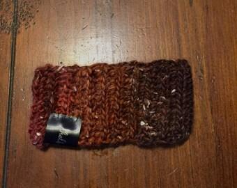 Speckled brown premie headband