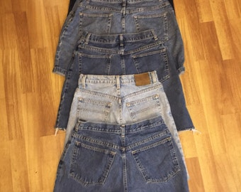 High waisted shorts denim SALE / high waisted Vintage/ Any brand / cut off shorts / xs/ s/ m/ L / plus