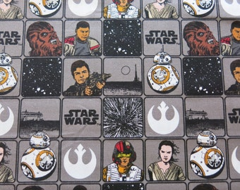 """1/2 yard of 100% cotton """"The force awakens"""" Star wars fabric"""