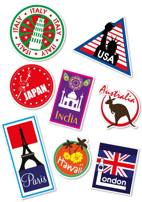 Related Keywords Suggestions For Luggage Stickers Countries