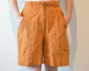 Fabulous 80s Vintage Suede High Waisted Shorts with Pockets!