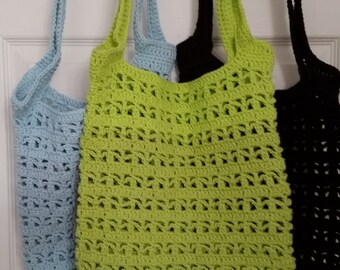 Crocheted Cotton Market Bag