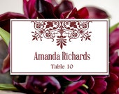 """Printable Wedding Place Card Template 