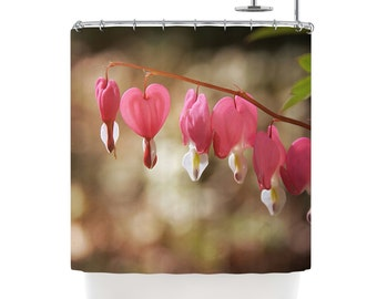"""Shower Curtain - Angie Turner """"Bleeding Hearts"""" Great Gift"""