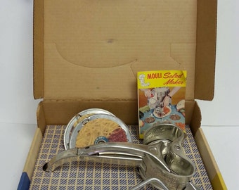 Free Shipping!! Mouli Salad Maker Slices/Chops/Shreds/Grates/Shaves Ice and Makes Coleslaw