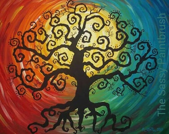 Whimsical Family Tree Canvas
