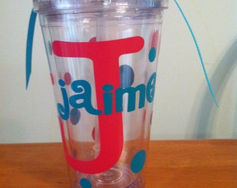 Personalized/Monogrammed Tumbler - 16 oz.