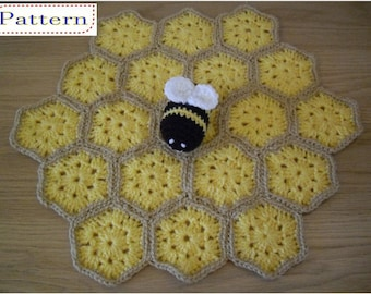 Bumble Bee Security Blanket Toddler Baby Lovey Comforter Blankie Lovie Crochet PATTERN