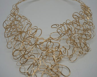 14K Gold Fill Wire Wrap Necklace