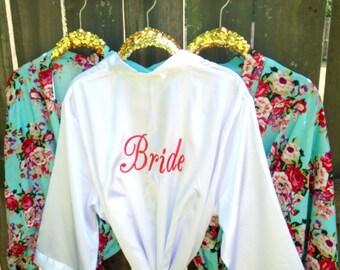 SALE! Bridesmaid Gift, Bridesmaid Robes, Fast Shipping, Monogrammed Bridesmaid Gift, Nursing Robe, COTTON, Bridesmaid Robe