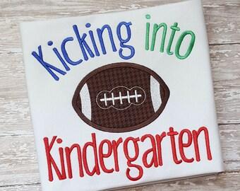School Applique - Back to School Applique - Kindergarten Applique - Football Applique - School Embroidery -