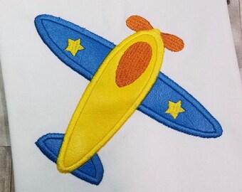 Plane Applique - Transportation Applique - Plane Embroidery - Airplane Applique - Applique Design - Embroidery Design