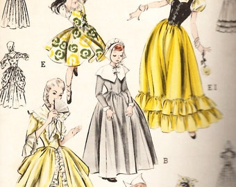 Butterick 6551 Costumes Colonial America Dutch and Spanish Cultural Historical Halloween Sewing Pattern