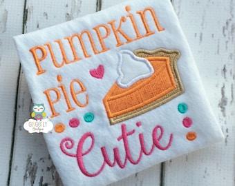 Pumpkin Pie Cutie Thanksgiving Shirt or Bodysuit, Thanksgiving, Pumpkin Pie Shirt, Girl Thanksgiving Shirt, Thanksgiving Clothing, Pumpkin