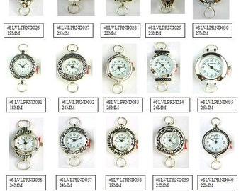 Watch Face,Silver Round Loop Geneva and Narmi Watch Faces,Beading Watch Face,Silver Round Watch Face Assortment #2-1 Piece