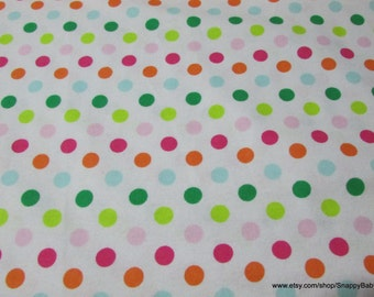 Flannel Fabric - Palm Beach Dot - 1 yard - 100% Cotton Flannel
