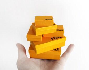 Miniature F yellow boxes
