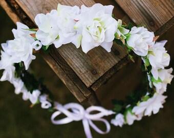 White Wedding Flowercrown