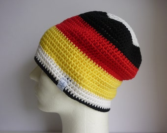 Germany fan Hat crochet Beanie Hat football handball