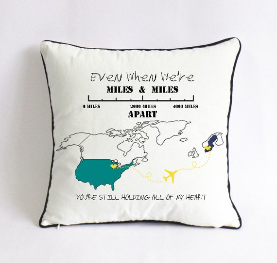 Cute Long Distance Pillow Cases : long distance fathers day pillow case-Christmas present from