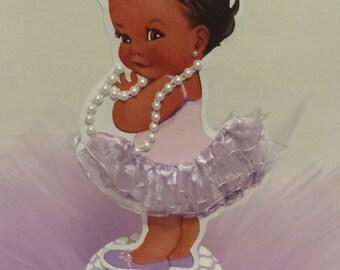 Precious Little Lavender TuTu Baby Centerpiece