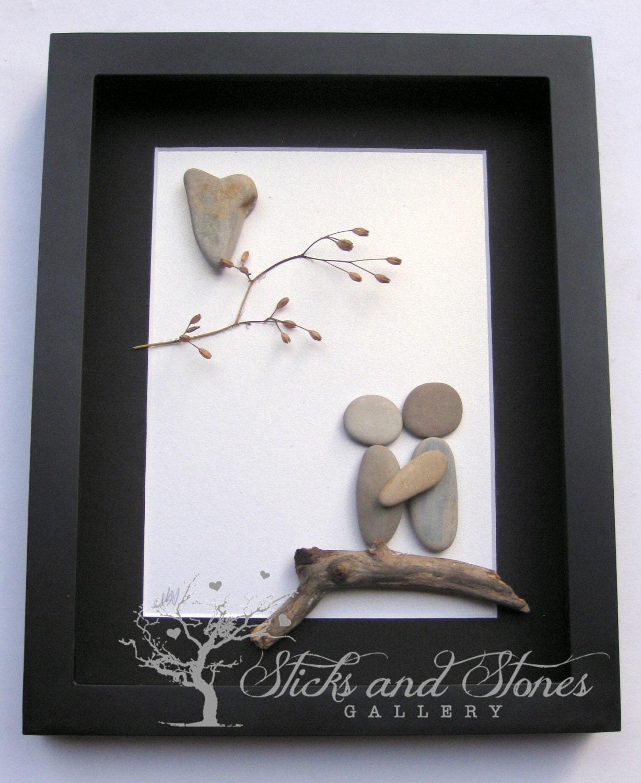 pebble art couple unique couple 39 s gift personalized. Black Bedroom Furniture Sets. Home Design Ideas