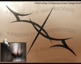 Final Fantasy VII Opening Screen Design/Motif Vinyl Decal