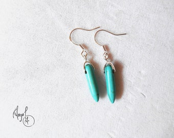 Turquise and Sterling Silver Handmade Earings