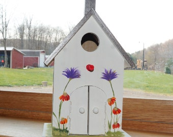 Beauiful Hand Painted Birdhouse