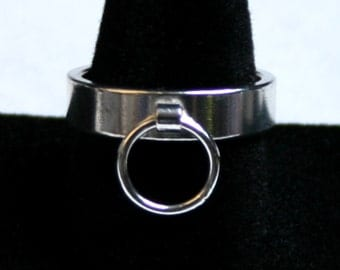 Heavyweight Sterling Silver Ring of O, BDSM Ring, Story of 'O' Ring. Fully UK hallmarked. 5 mm Slave ring. Sizes I to Z  (US 4 1/2 - 12 1/2)