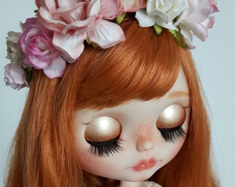 Blythe doll mori style flower hair garland hairband floral crown 'Briar Belle'