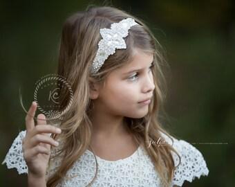 Flower Girl Headband Flower Girl  Rhinestone Headband Bling Headband Vintage Headband Wedding Headband Bling Headband Gatsby Headband
