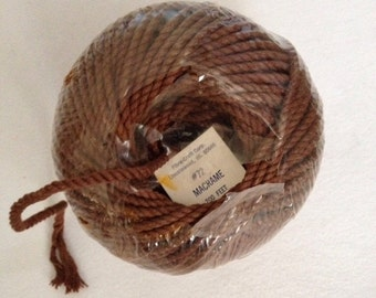 Brown Macrame Cord by Fibre-Craft 200 Feet