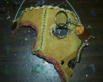 Steampunk half mask w/monacles