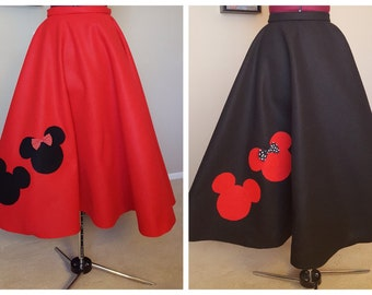 Custom Mickey and Minnie Mouse Poodle Skirt