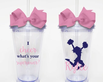 I Cheer, Superpower - Acrylic Tumbler Personalized Cup