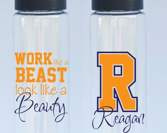 Work Like a Beast, Look Like a Beauty, Wokout Quote - Eastman Tritan Water Bottle