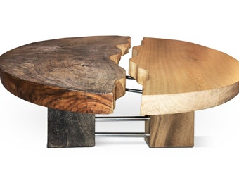 Yin-Yang Erosion Effect Coffee Table