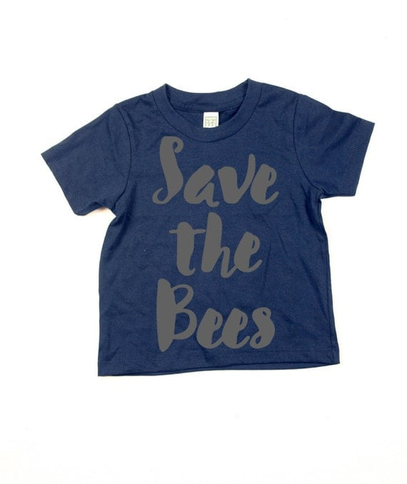 Kids save the bees t-shirt - kids shirt - Organic Cotton - 2T, 4T, 6T, 8T, 10T, 12T -  Summer - Top - t-shirt - tee -toddler -  youth