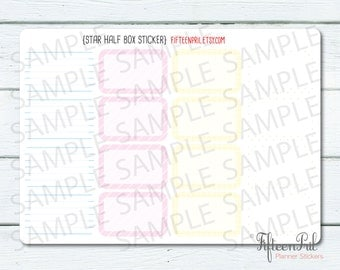 ECLP Stripe half box stickers -B495