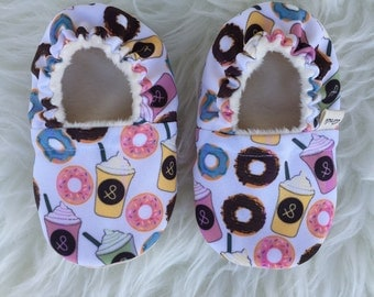 Coffee Donuts - Ari&i Soft Sole Shoes - Made to order