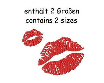 Embroidery Design Kisses - DIGITAL DOWNLOAD PRODUCT