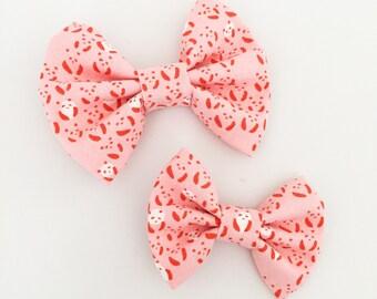 LARGE Pink Panda Bow