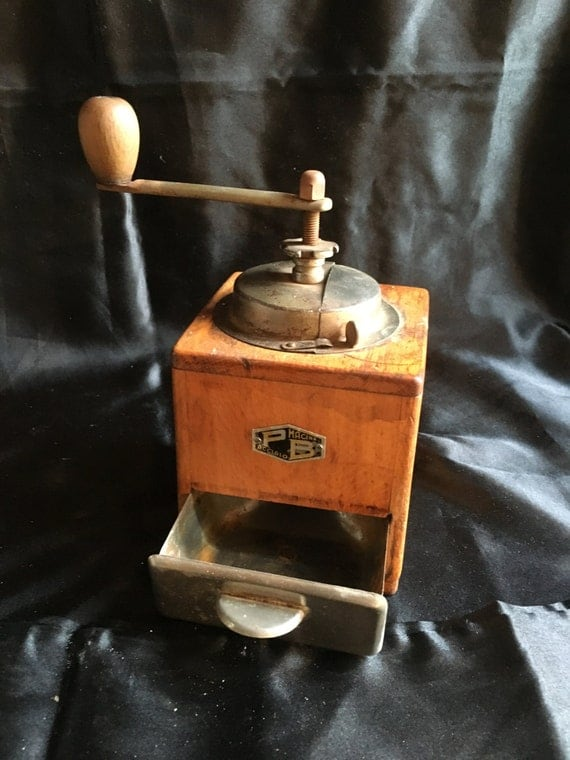 Vintage Coffee Grinder Pb Macina Acciaio 1950s Made By