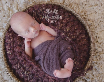 MADE TO ORDER Crochet Basket Newborn Photo Prop Choose Your Color