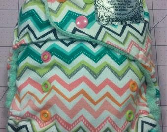 Chevron Pocket Cloth Diaper - Ready to Ship