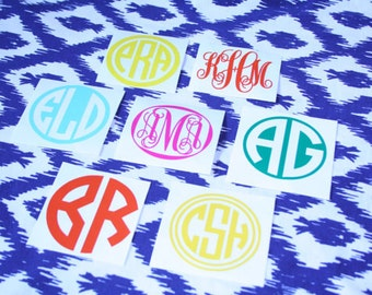 Personalized Monogram Vinyl Decal DIY Monogram Stickers - How to make vinyl decals for cups
