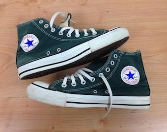 Converse Made in USA Sz 7  1/2  All Star Chuck Taylor Hi Green