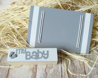 My Baby Photo Wooden Frame, Picture Frame Sign, Baby Photo Frame, Handmade Photo Frame,Gray Baby Nursery Decor