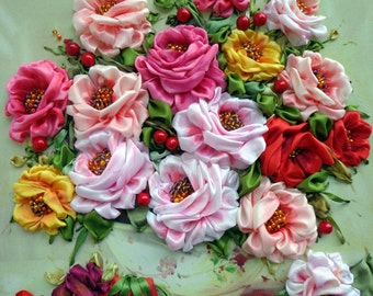 Picture 3d silk ribbon embroidery 35 х 45
